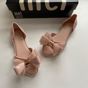 Mel by Melissa girls pink bow shoes size 11 new